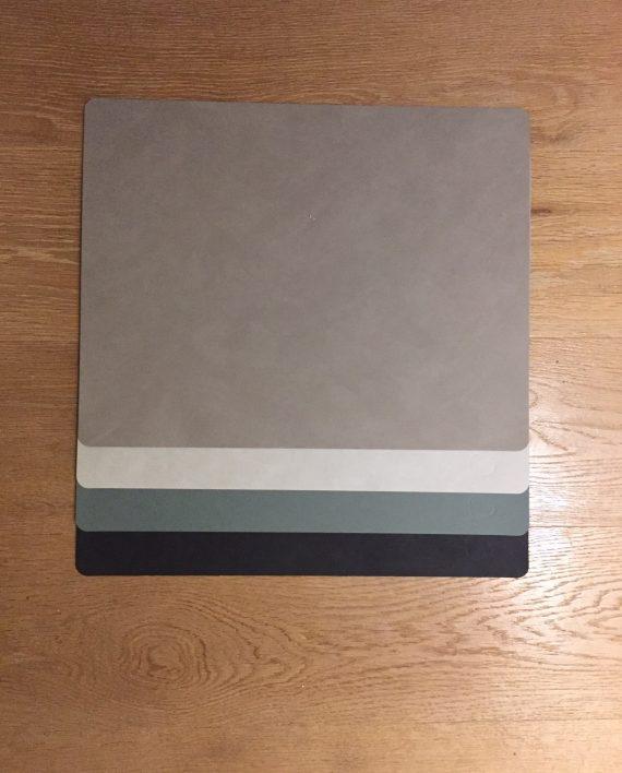 tischsets recyceltes leder rechteckig einfarbig kleinkariertshop sylt. Black Bedroom Furniture Sets. Home Design Ideas